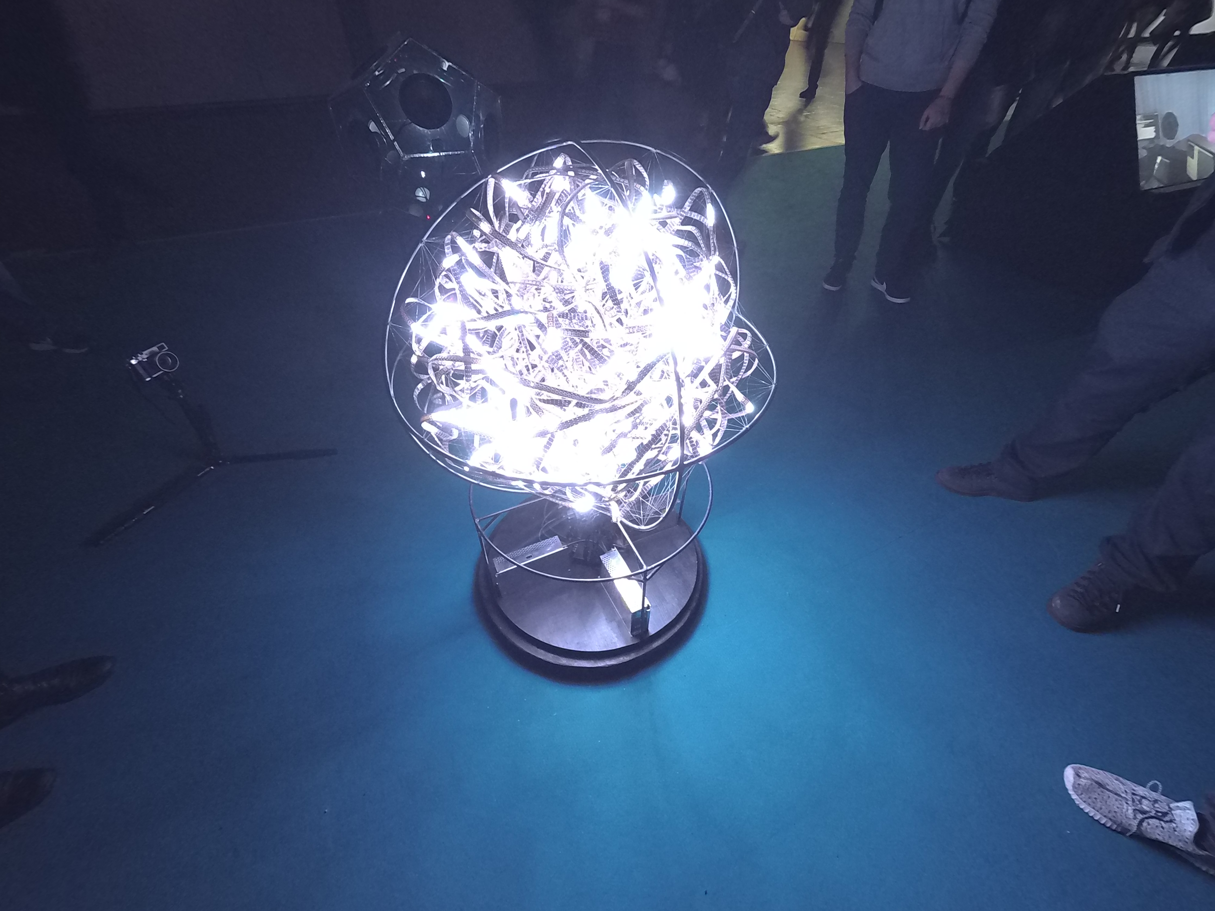 Light sculpture in art and play area
