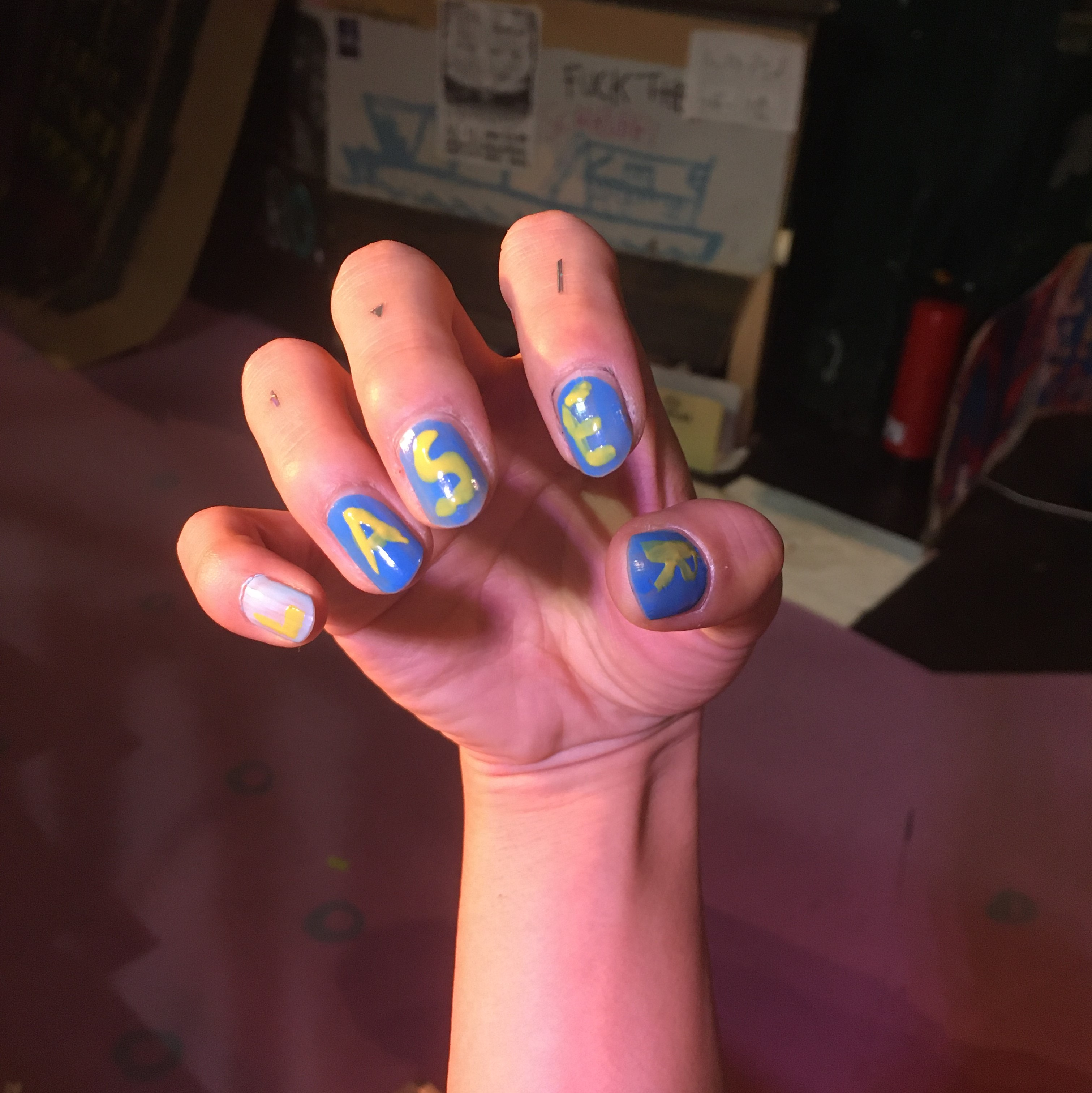 My nails written as LASER