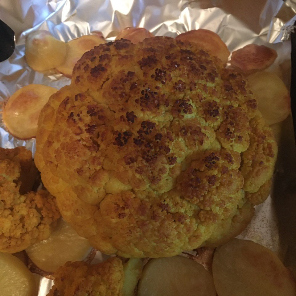 spiced and baked cauliflower